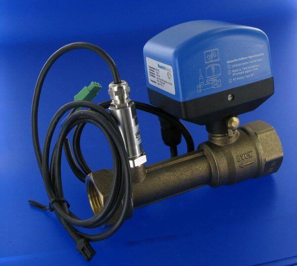 Wasserleck-Protect-OV-Tech-Set-Stellenantrieb-mit-Kugelhahn-und-Drucksensor